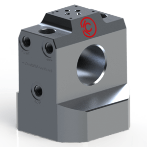 Custom Cylinder End Cap with Integrated Load Motion Control, PO Check, Counter balance and NG06 Direction valve