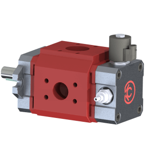Hydraulic Gear or Vane Pump Back Cover with integrated valves such as relief and solenoid unloading valves